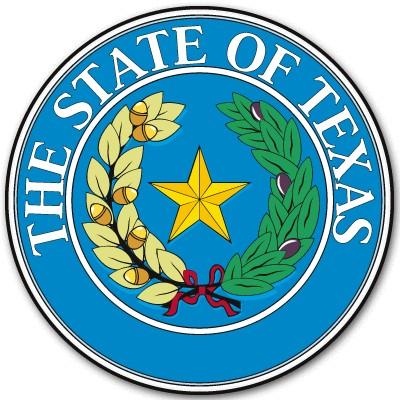Texas State Seal Flag bumper sticker decal 4 x 4