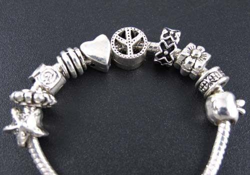 Wholesale 100pcs Mix Tibetan Silver Spacer Beads Fit Charm Bracelet