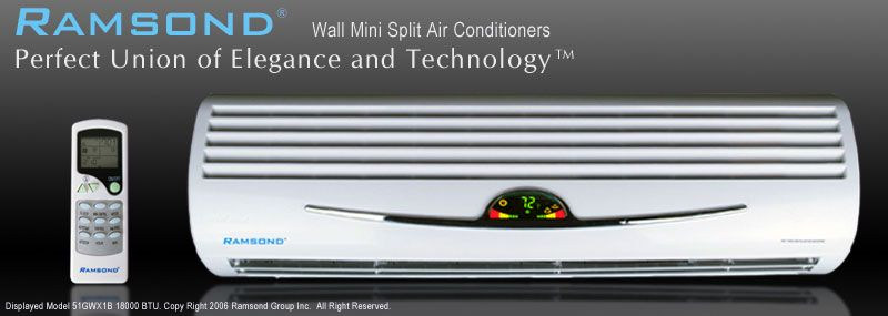 RAMSOND 18000 BTU MINI SPLIT DUCTLESS AIR CONDITIONER