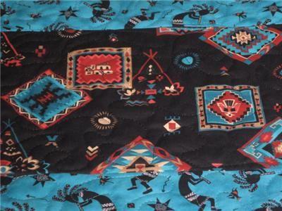 Handmade Table Runner Cherokee Southwest Navajo quilted